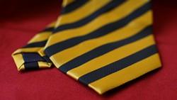 Krawatte Schwarz-Gold